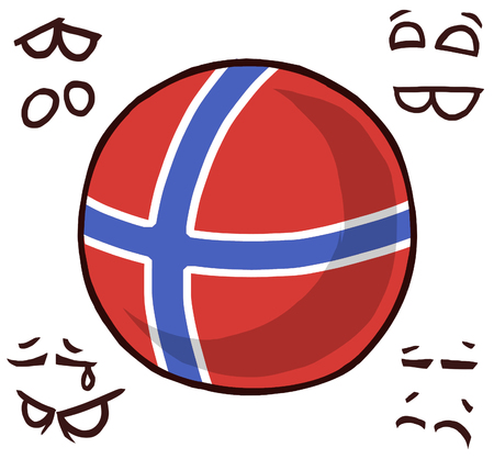 norway country ball 向量圖像