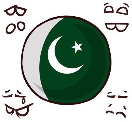 Pakistan country ball  イラスト・ベクター素材