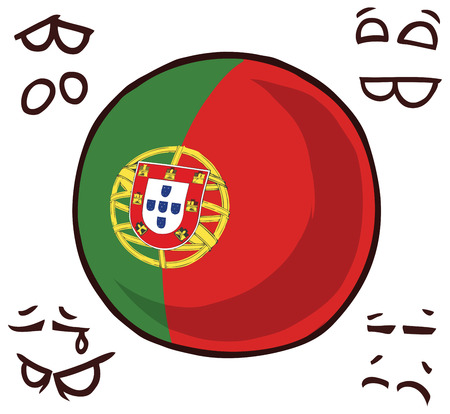 portugal country ball Ilustrace