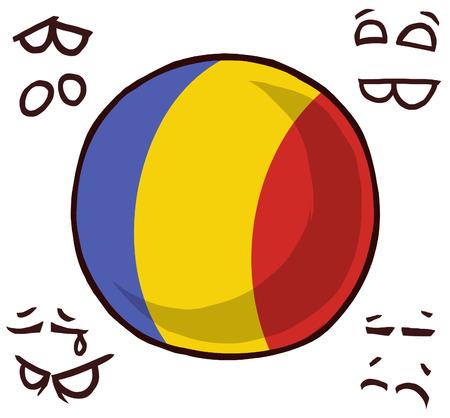 Romania country ball