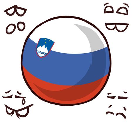slovenia country ball 写真素材 - 110841533