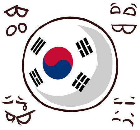 south korea country ball 写真素材 - 110841535