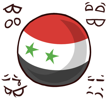 Syria country ball 向量圖像
