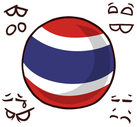 Thailand country ball