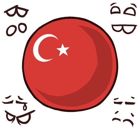country ball turkey  イラスト・ベクター素材