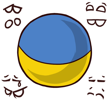 country ball ukraine  イラスト・ベクター素材