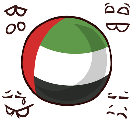 United Arab Emirates country ball 向量圖像