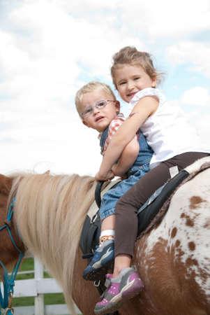 kids riding photo