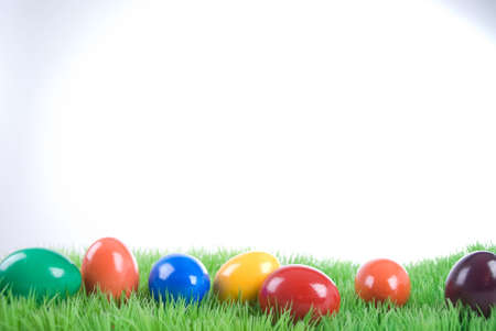 red grass: easter eggs