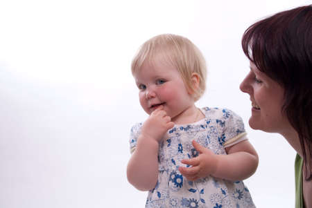 happy child with her mother on Mothers Day Stock Photo