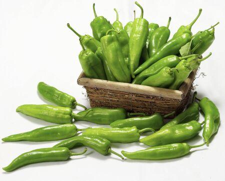 green horn peppers