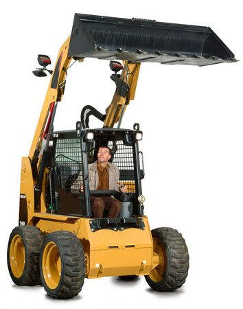 a little excavator with the driver inside Stock Photo - 2466852