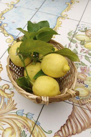 lemon basket in Sorrento coast