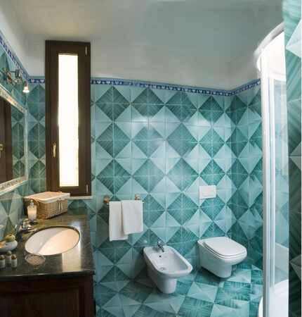 Bathroom in country style Stock Photo - 3262418
