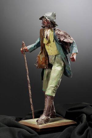 papier mâché sculpture shepherd Stock Photo - 3391456