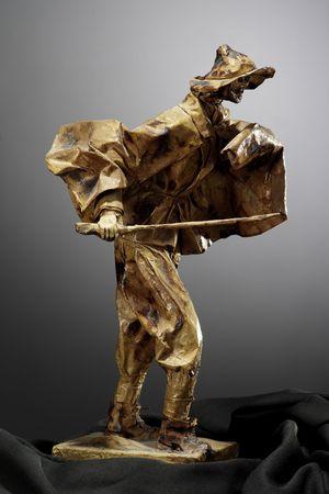 papier mâché sculpture shepherd Stock Photo - 3391457