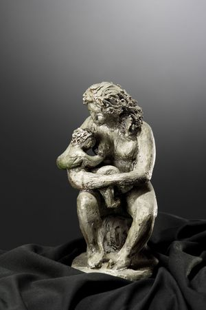 mother and son Clay sculpture Stock Photo - 3380624