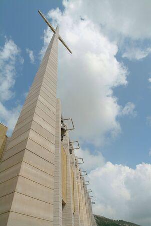 pio: Saint Pio from Pietrelcina sanctuary, San Giovanni Rotondo, Italy, Architect Renzo Piano