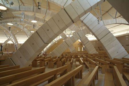 rotondo: Saint Pio from Pietrelcina sanctuary, San Giovanni Rotondo, Italy, Architect Renzo Piano