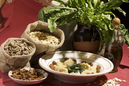 fava bean: fava bean puree with chicory