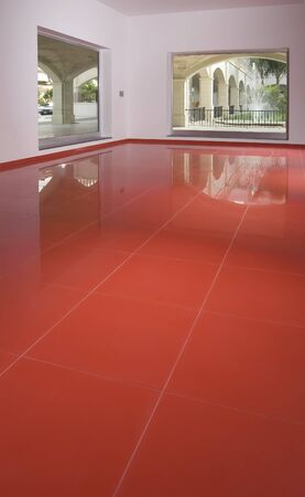 empty space with red tiled floor Stock Photo - 4141938