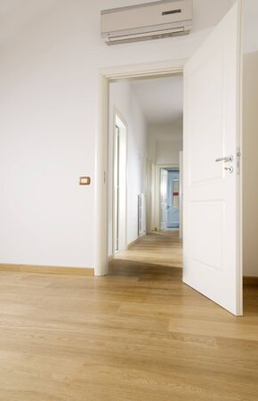 empty room with hardwood floor Stock Photo - 4141940