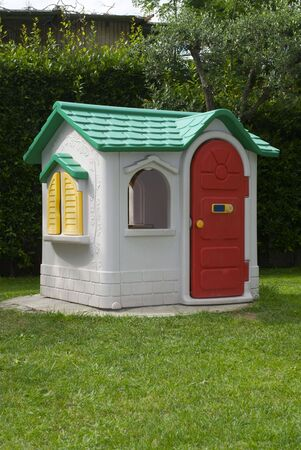 Toy house in the garden