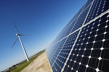 solar y energía eólica
