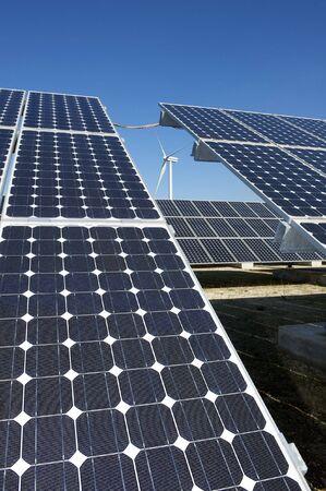 solar and wind energy photo