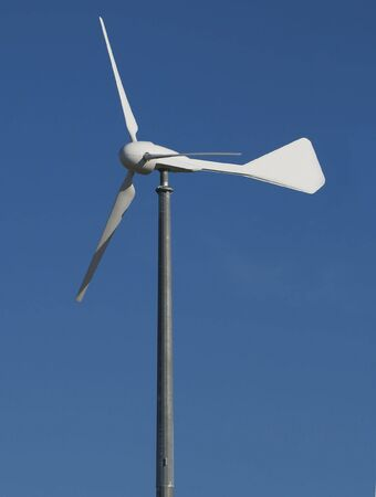 wind turbine in a gas station photo