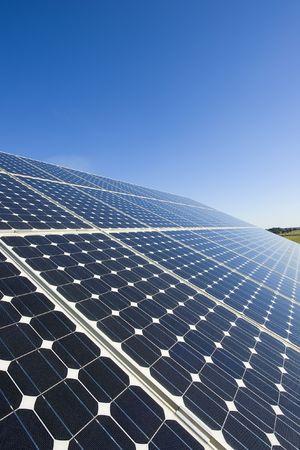 power house: Solar Energy panel Stock Photo