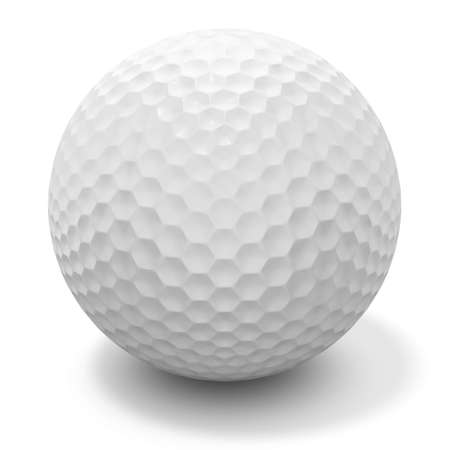 3d renderingillustration of a golf ball - clipping path included
