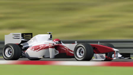 formula one race car on track - high quality 3d rendering - my own car design Stock Photo - 6564547