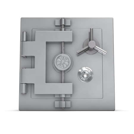 3d rendering of a bank safe photo