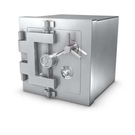 locked: 3d rendering of a bank safe