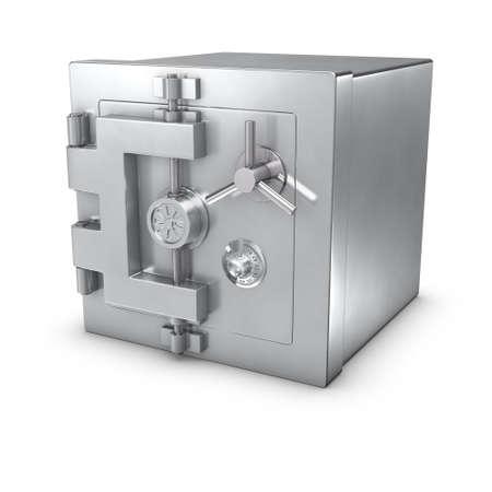 caja fuerte: representaci�n 3D de un banco de seguro