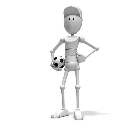 3d illustrationrendering of a soccer player illustration