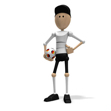 3d illustrationrendering of a german soccer player illustration