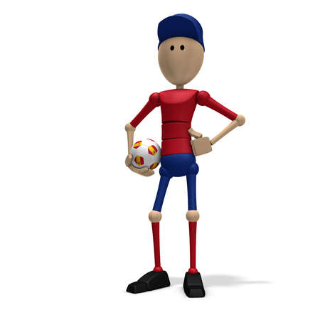 3d illustrationrendering of a spanish soccer player illustration
