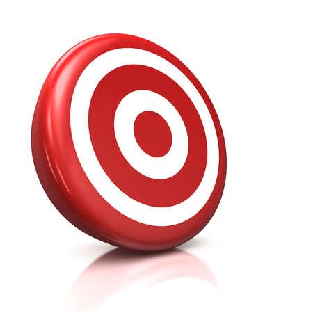 3d illustrationrender of a red target