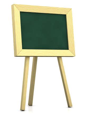 3d renderingillustration of a blank blackboard illustration