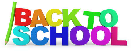 back to school - high quality 3d illustration