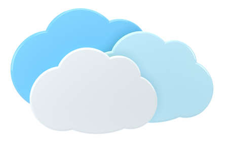 syncing: 3d cloud icons - high quality 3d illustration