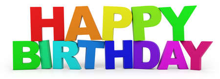 3D letters with Happy Birthday slogan - high quality 3d illustration
