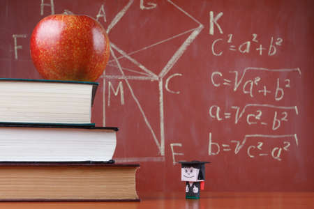 Student sees the level of books apple and blackboard
