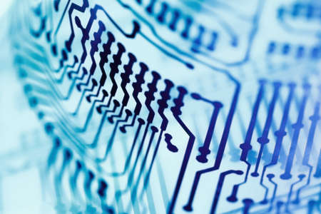 Computer circuit board close up for background.