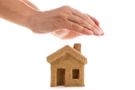 fortunately: Symbol - Protect your home. Icon, sticker for insurance and investment companies. Stock Photo