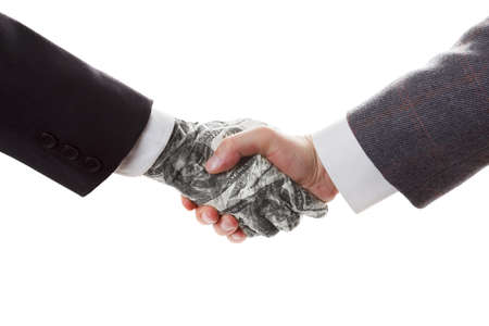 corrupted: Business concept - Conclusion bargain and contract. The contract with the investor. Partnership. Stock Photo