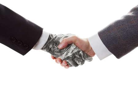 contrato de trabajo: Concepto de negocio - Conclusión trato y contrato. El contrato con el inversionista. Asociación. Foto de archivo
