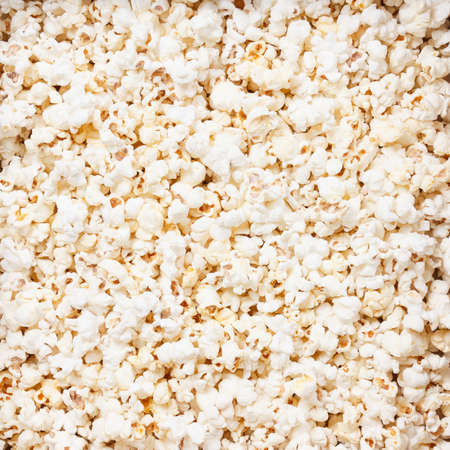 Popcorn texture background. macro studio closeup shoot Standard-Bild